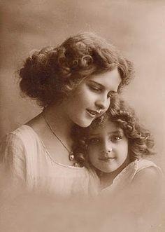 Vintage mother and child - shop for vintage photos and lithographs at www.rubylane.com @rubylanecom #rubylane