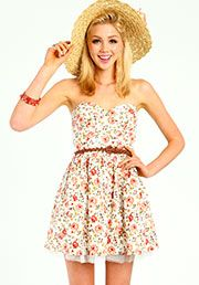 Floral Tulle Dress:$29.90