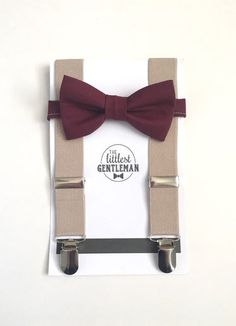 boys  burgundy wine bow tie and suspenders set , baby boy suspenders, suspenders, ring bearer outfit, page boy, braces, boys wedding bow tie