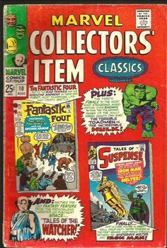 Marvel Collector's Item Classics #10 COMICS 1967 FF TOS Hulk Watcher Iron Man