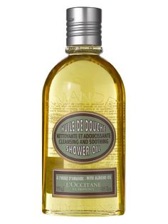 Obsessed with this !!! L'Occitane Almond Shower Oil.  SOFT skin. I use it as a shave gel!