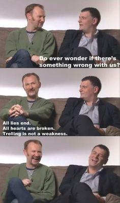 I love these two brilliant men!