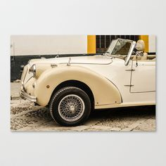 Car, voiture Stretched Canvas by Sébastien BOUVIER - $85.00 Framed Art, Framed Prints, Art Prints, Prints For Sale, Antique Cars, Stretched Canvas, Vehicles, Mini, Automobile