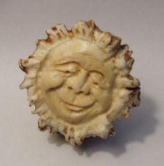 Moose Antler Button, carved by Scott Duncan