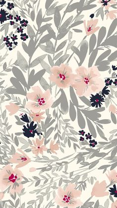 Floral paint wallpaper