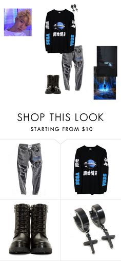 """""""Power MV Seong scenes/outfit"""" by flow-mosterz ❤ liked on Polyvore featuring Sega, Moncler, men's fashion and menswear"""
