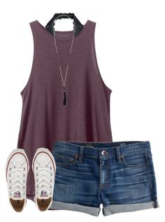 """✌️"" by urmom317 on Polyvore featuring RVCA, Free People, J.Crew and Converse"
