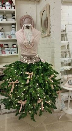 cc062c061df7 Mannequin Christmas Tree, Dress Form Christmas Tree, Christmas Window  Display, Holiday Tree,