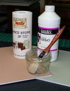 homemade sanded pastel paper