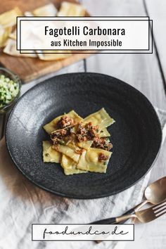 Das Rezept für Heinz Becks Fagottelli Carbonara ist für mich ein absolutes Highlight. Besonders, würzig, cremig und unglaublich lecker! #KitchenImpossible