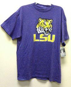 0d8f2df8e68 NEW NWT LSU Tigers T-shirt Distressed Look Asst Sizes NCAA Louisiana State