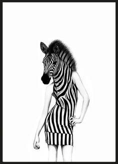 Party animal - illustrationer - TAVLOR & POSTERS