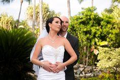 Outrigger Fiji Beach Resort Photography Wedding Ideas Planning Planner Groom Bride Veil Nature Outdoors Trees Palms Pond White Stunning Elegant Beautiful Nature