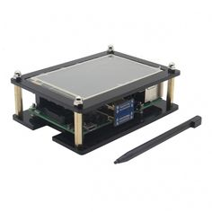 "Geekworm Acrylic Case with 3.5"" HDMI Touch Screen Set for Raspberry Pi"