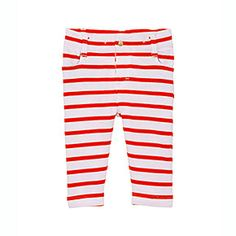 Petit Bateau US Official Online Store, Unisex baby 5-pocket pants in sailor-striped heavy jersey, ecume brulant, Baby Boy : Daywear, 35563