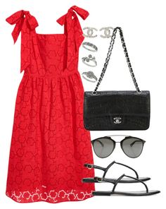 """Untitled #4310"" by theeuropeancloset on Polyvore featuring Miss Selfridge, Chanel and Christian Dior"