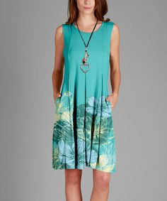 Look what I found on #zulily! Turquoise Abstract Shift Dress - Plus #zulilyfinds