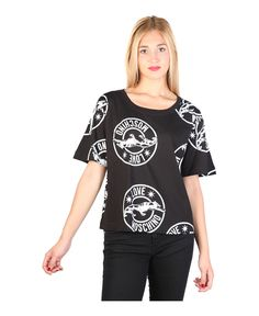 T-shirt, short sleeves roundneck - 100% cotton - wash at 30° - italian size - T-shirt women Black