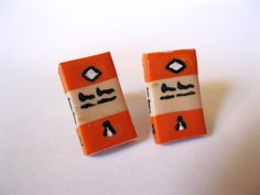 Penguin Book Stud Earrings - Book Jewelry by Coryographies. £6.00, via Etsy.