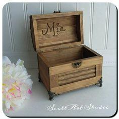 Engraved Personalized Custom Small Treasure Box 6x3x7