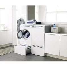 Top loader versus front loader washing machines — Homes to Love Laundry Appliances, Home Appliances, Stacked Washer Dryer, Decoration, Drawers, Sweet Home, Washing Machines, Indoor, Interior