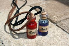 Mana & Health Potion Necklaces by Taypop on Etsy
