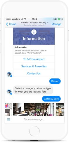 Help travelers easily search flights by a flight number or airline, explore airport shops, restaurants, services, and amenities. Track flights and receive real-time updates. Facebook Messenger, Ui Design, Restaurants, Track, Shops, App, Number, Templates, Explore