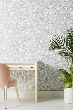 Mare Wave Wallpaper | Anthropologie