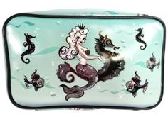Fluff Mermaid Love - Queen Mermaid with Seahorse - Pearla Makeup Bag 434e2aaa8377f