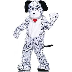 Dalmatian Plush Economy Mascot Adult Costume ($131) ❤ liked on Polyvore featuring costumes, halloween costumes, tail costume, dog tail costume, party costumes, holiday dog costumes and dog halloween costumes