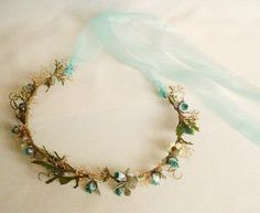bridal headpiece teal aqua Wedding hair accessories by AmoreBride ADD <3 <3 DIY www.customweddingprintables.com