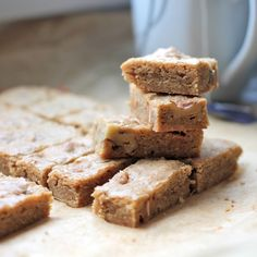 Soft and chewy caramel walnut blondies. Do I need to elaborate?