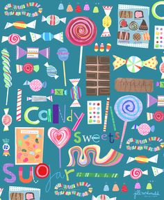 Sweets Art by Jill McDonald Design