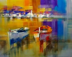 Beautiful Abstract Palette Knife Paintings by Josep Teixido