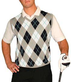 Golf Knickers: Men's Sweater Vest Argyle.  Buy it @ ReadyGolf.com