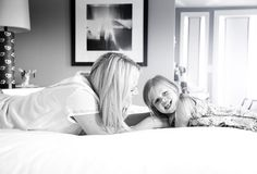 """""""I love lying in bed with Birdie right before she goes to sleep. We'll talk about her day, she'll tell me stories...""""  http://www.theglow.com/busy-philipps/?i#13"""