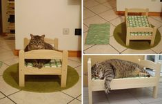 Here's a new one from IKEA Hacker. It's an adaptation of the Duktig doll bed for use as a sturdy cat bed, designed especially for a slightly hefty tabby, Titina. Titina's mom Paola bought two cushion covers and sewed them to the correct size to make removable, washable covers for the existing doll bedding that comes with the Duktig.…