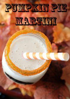 ★ Thanksgiving drinks ❥ Pumpkin Pie Martini