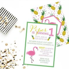 I love when I get to work with my fellow small biz owner #ladyboss friends  but especially when it involves bright colors flamingos and   ... So when Kiersten (@hh_and_co) reached out about her daughter's birthday invites I think it took me about 2 seconds to say yes  yes and yes!  Head to her page to check out the super adorable matching cookies she ordered for the party  and her cute hand made earrings and jewelry! Super adorable!! (PS why is there no flamingo emoji?!)