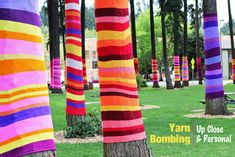 Saw yarn bombed trees in Seattle last summer - love it and want to do something like it...Modern Parents Messy Kids: Yarn Bombing!