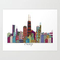 Chicago++Art+Print+by+Bri.buckley+-+$22.00