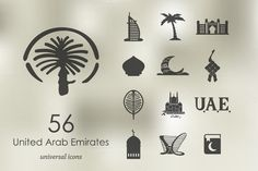 56 United Arab Emirates icons by Palau on Creative Market