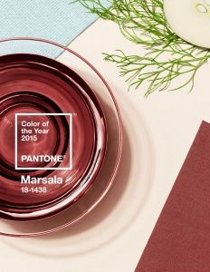 pantone 2015 color of the year - marsala