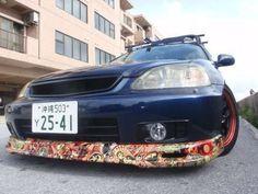 Honda front lip bombed. #stickerbomb, #honda Sticker Bomb, Honda, Diy And Crafts