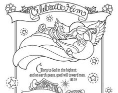 God So Loved The World Coloring Page 85X11 By KristaHamrick