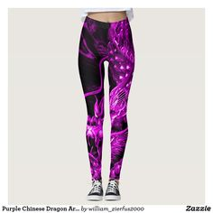 Purple Chinese Dragon Art Leggings