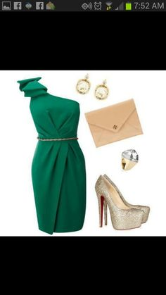 Emerald green dress lovely