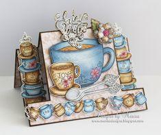 Coffee Talk Step Card by marisajob - Cards and Paper Crafts at Splitcoaststampers