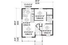 Country Style House Plan - 2 Beds 1.00 Baths 806 Sq/Ft Plan #25-4451 Floor Plan - Main Floor Plan - Houseplans.com