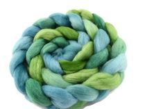 Corriedale Wool Sliver/Roving/Top Hand Dyed Blue Green Mix 12403 Felting, Spinning, Blue Green, Hands, Wool, Hand Spinning, Felt Baby, Duck Egg Blue, Felt Crafts